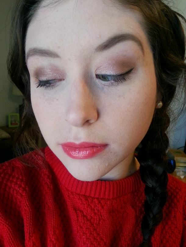 fotd with red lips and Lorac Pro Palette